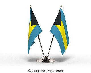 Miniature Flag of Bahamas (Isolated)