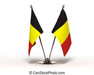 Miniature Flag of Belgium (Isolated)