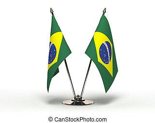 Miniature Flag of Brazil (Isolated)