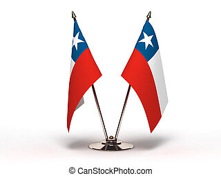 Miniature Flag of Chile (Isolated)