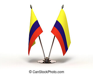 Miniature Flag of Colombia (Isolated)