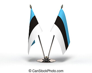 Miniature Flag of Estonia (Isolated) - Miniature Flag of...