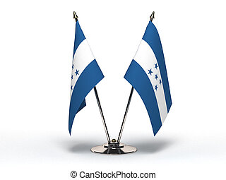 Miniature Flag of Honduras (Isolated) - Miniature Flag of...