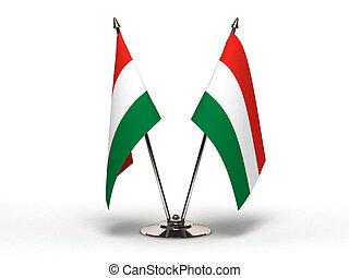 Miniature Flag of Hungary (Isolated)