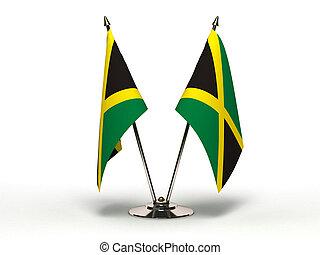 Miniature Flag of Jamaica (Isolated)