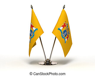 Miniature Flag of New Jersey (Isola