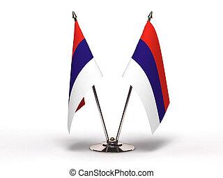 Miniature Flag of Serbia (Isolated)