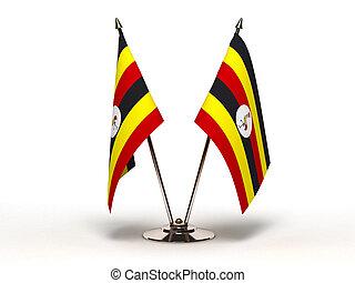 Miniature Flag of Sri Uganda (Isolated) - Miniature Flag of...
