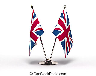 Miniature Flag of United Kingdom (Isolated)