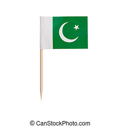 Miniature Flag Pakistan. Isolated on white background