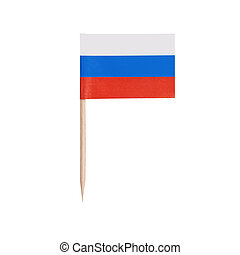 Miniature Flag Russia . Isolated on white background