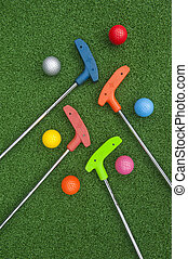 Miniature Golf Balls and Putters