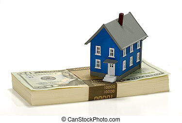 Home Equity - Miniature House on Top of Cash - Home Equity ...