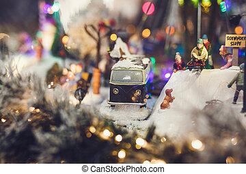 miniature image of Christmas scene
