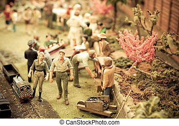 miniature, jardin