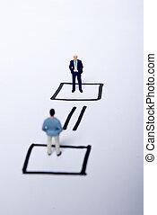 miniature man - mini man on teamwork