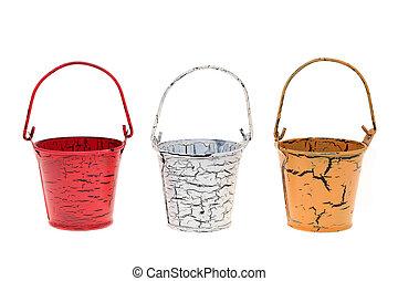 miniature metal bucket