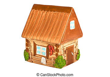 Miniature model country home (piggy bank)