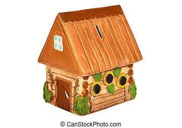 Miniature model country home (piggy bank)