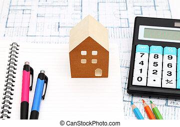 Miniature model of house