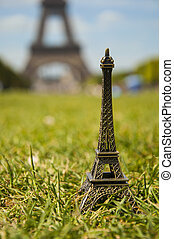 miniature of Eiffel tower in Paris