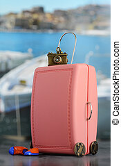 Miniature of pink suitcase