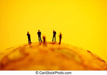 Miniature on the globe