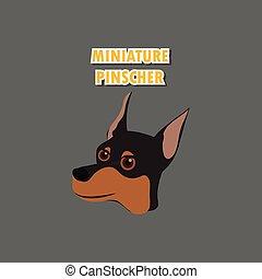 Miniature Pinscher dog vector