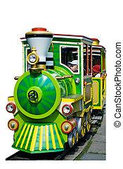miniature railway isolated - miniature railway on rail at ...