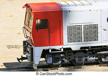 Miniature replica train of real train in Spain
