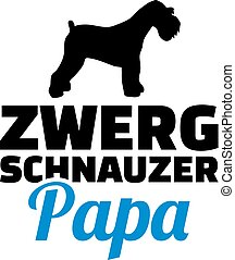 Miniature Schnauzer dad silhouette german - Miniature...