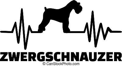 Miniature Schnauzer heartbeat word german - Heartbeat pulse...