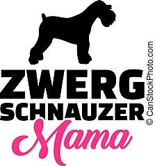 Miniature Schnauzer mom silhouette german - Miniature...