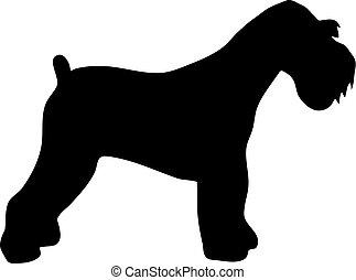 Miniature Schnauzer silhouette black - Miniature Schnauzer...