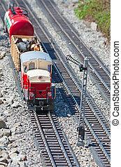 Miniature model of the train