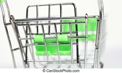 Miniature Trolley - Trolley from supermarket in miniature