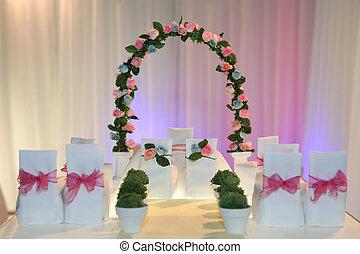 Miniature wedding scene