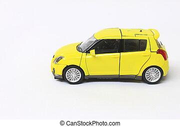 miniatuur, auto, model