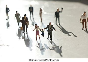 miniatuur, mensen