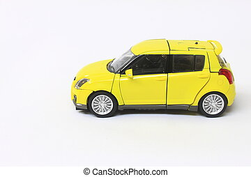 miniatuur, modelleer auto
