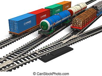 miniatuur, spoorweg, modellen