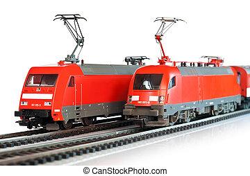 miniatuur, treinen