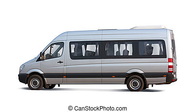 minibus, blanc