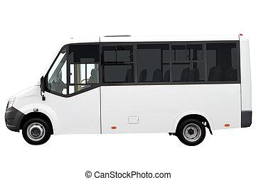 minibus., blanc