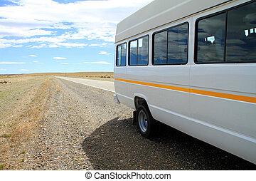 minibus, bord route