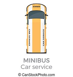 Minibus Car Service Means of Transport Isolated
