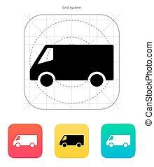minibus, icon.