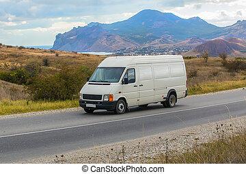 minibus, promenades, route montagne