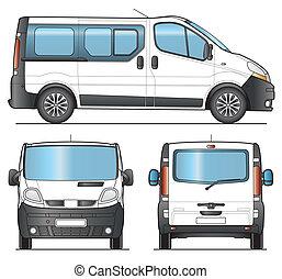 Minibus template - Minibus, Minivan combi template - Layout...