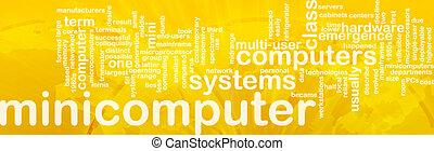 Minicomputer word cloud